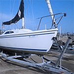 Sailboat on Trailer